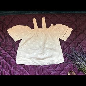 Tops - Daisy embroidered off the shoulder top